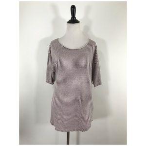 Isabel Marant Etoile Leon Striped Linen T-Shirt L